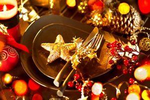Заставки Новогодний стол, новогодний стиль, новогодние обои