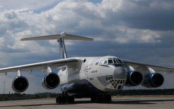 Фото бесплатно самолет, ил 76, военно-транспортный