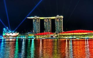 Бесплатные фото ночь,Сингапур,отель,башни,крыши,корабль,курорт