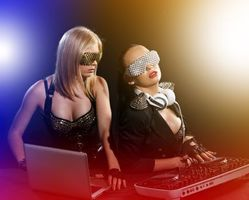 Photo free girl DJ, disco girl, headphones