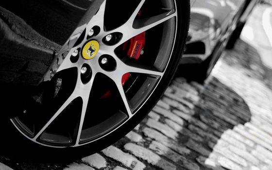 Photo free wheel, ferrari, disc