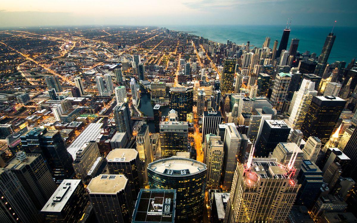 Фото бесплатно высотки, небоскребы, крыши - на рабочий стол