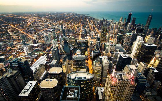 Фото бесплатно высотки, небоскребы, крыши