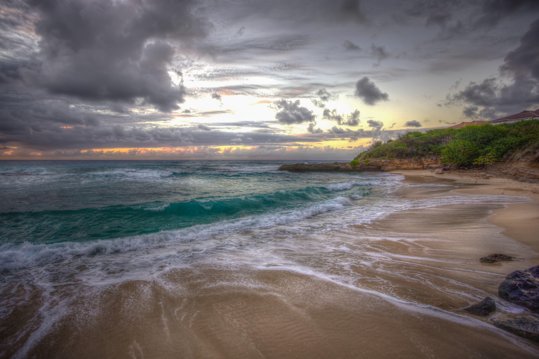 обои закат, море, берег, пляж картинки фото