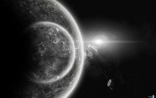 Фото бесплатно планета, спутник, поиск жизни