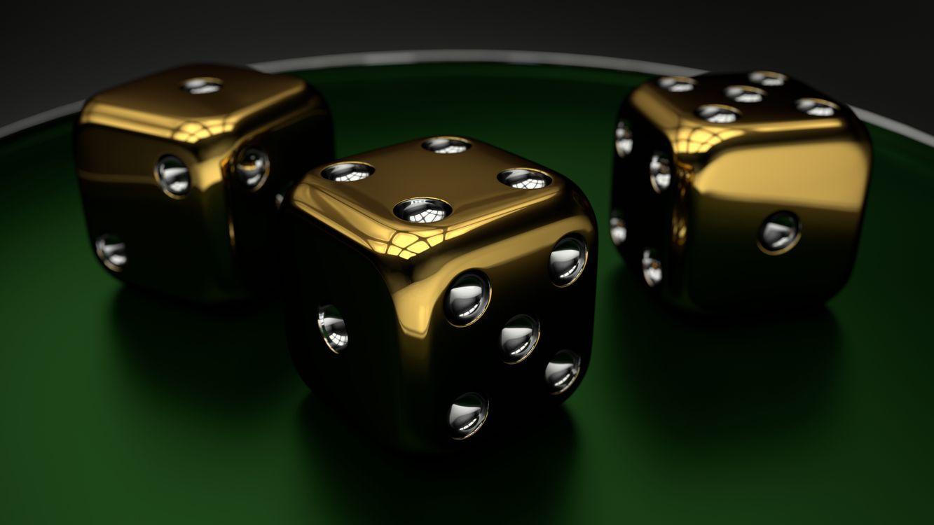 Золотые игральные кости · бесплатная заставка