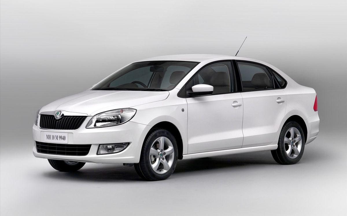 Фото бесплатно шкода, новая, автомобиль, белый, серый фон, машины, машины