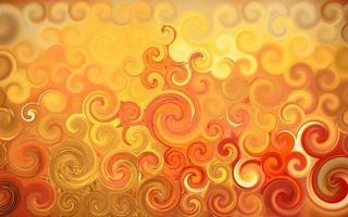 Бесплатные фото фрактал,оранжевые,круги,завитки,краски,3d графика