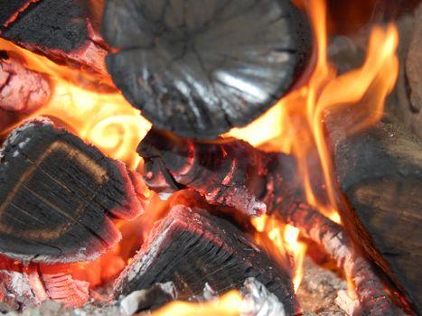 Фото бесплатно костер, огонь, угли