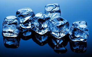 Заставки кубики, лед, поверхность, отражение, заставка, обои, разное