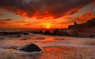 Фото бесплатно небо, море, пена