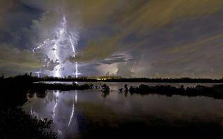 Фото бесплатно реки, плохая погода, небо