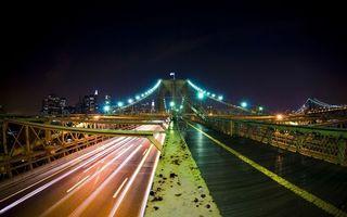 Фото бесплатно ночь, мост, дорога