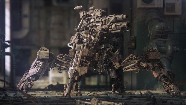 Photo free transformer, robot, gun
