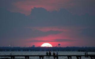 Фото бесплатно закат, солнце, облака