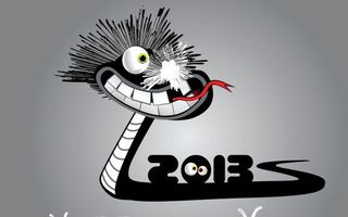 Обои змея, заставка, обои, глаза, рисунок, фон, серый, 2013, графика, язык, новый год, настроения