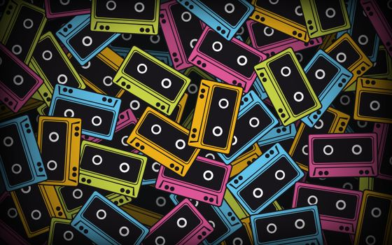 Photo free tapes, abstract, colorful