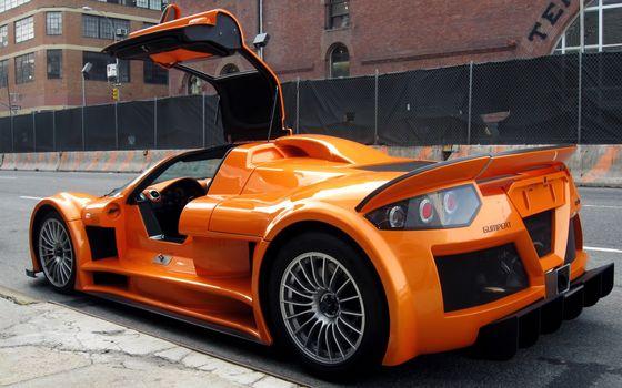 Бесплатные фото машина,спортивная,автомобиль,оранжевый,машины