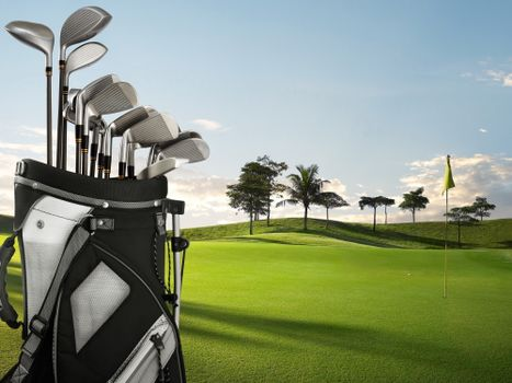 Photo free golf, putter, lawn