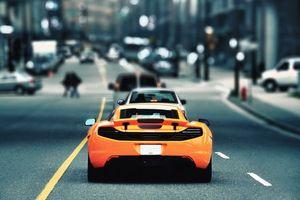 Фото бесплатно автомобиль, колеса, диски, шины, оранжевый, цвет, дорога, асфальт, улица, машины