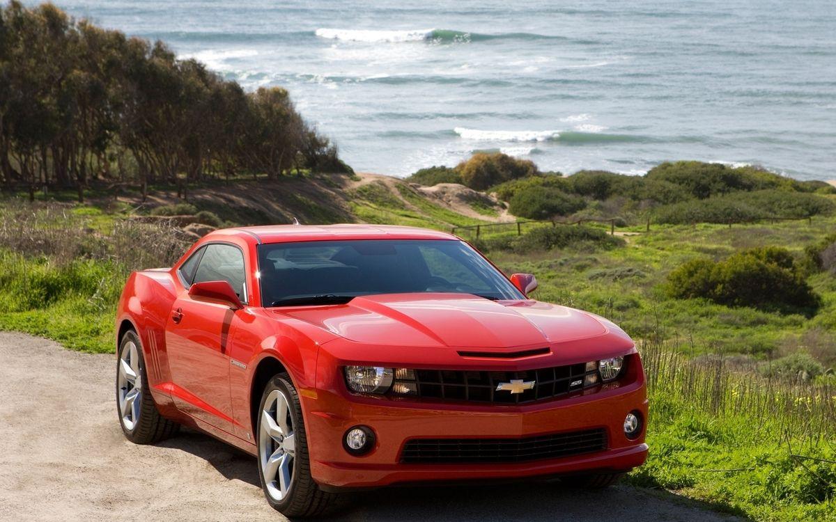 Фото бесплатно chevrolet, camaro, красный, машины - на рабочий стол