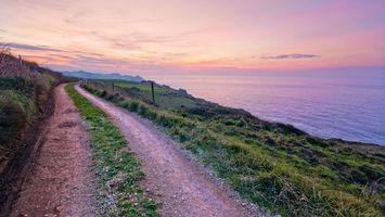 Фото бесплатно дорога, горы, трава