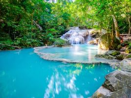 Photo free Erawan, beautiful waterfall, Kanchanaburi National Park
