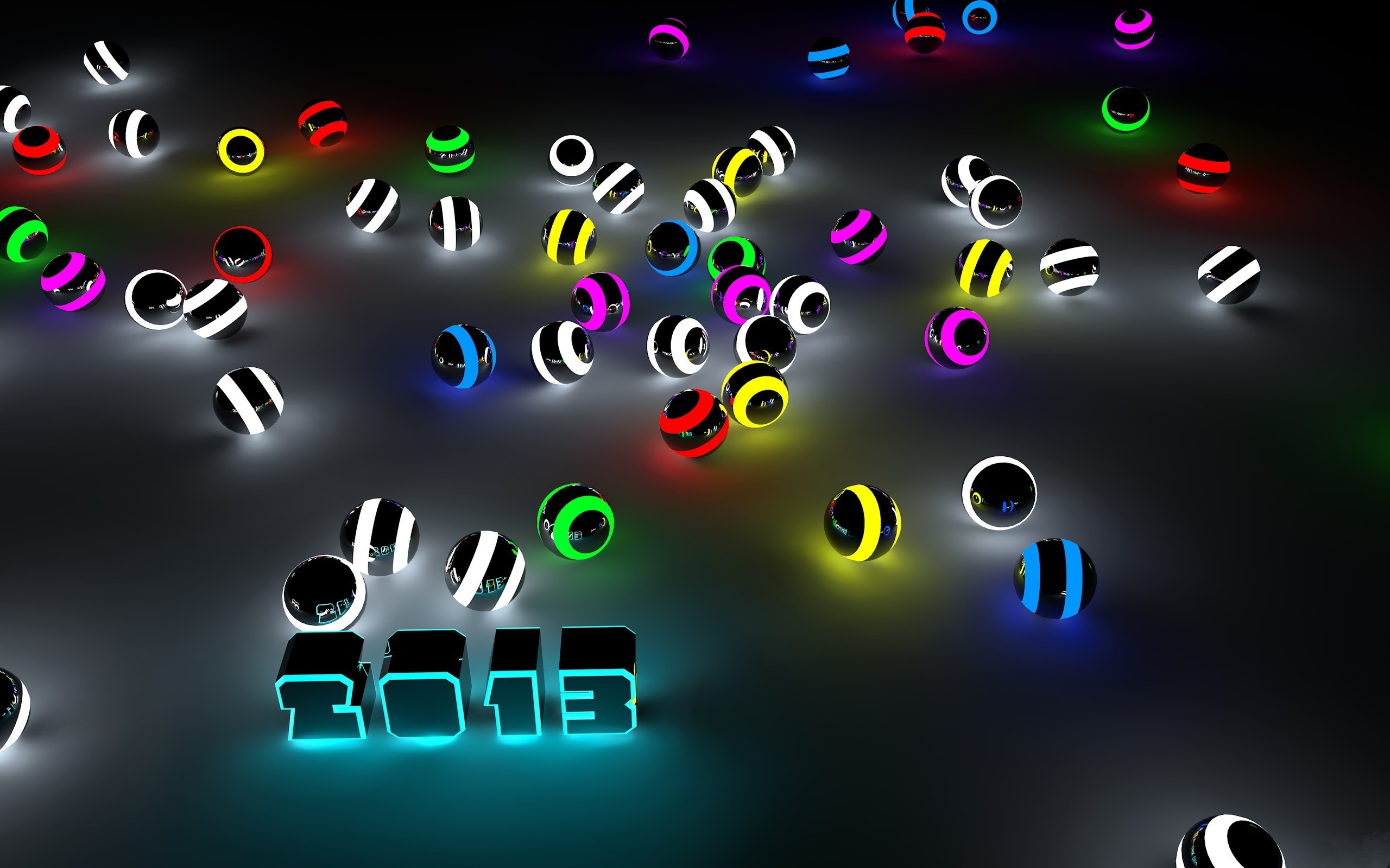 фон, черный, шары