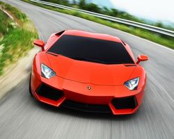 Бесплатные фото ламборджіні, машина, оранжева, авентадор, машины