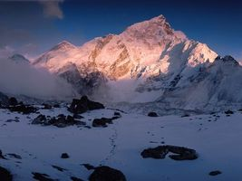 Фото бесплатно гора, снег, камни