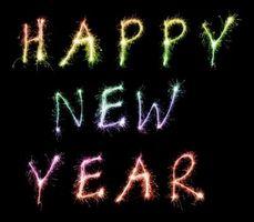 Фото бесплатно happy new year, с новым годом, праздник, надписи, разноцветные, огни, фейерверк, новый год