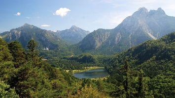 Бесплатные фото лес,горы,вода,небо,облака,деревья,озеро