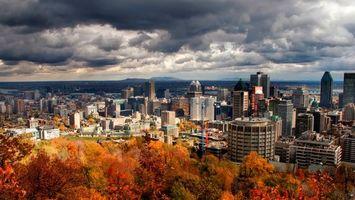 Фото бесплатно осень, дома, высотки
