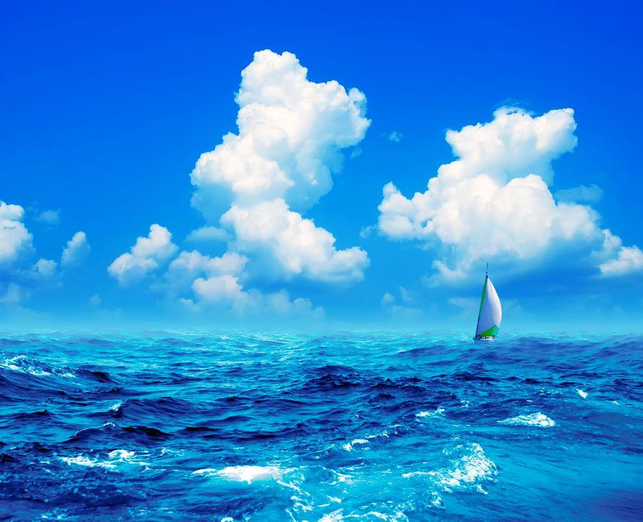 Free photo landscape, sea, yacht - to desktop