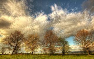 Фото бесплатно облака, забор, трава