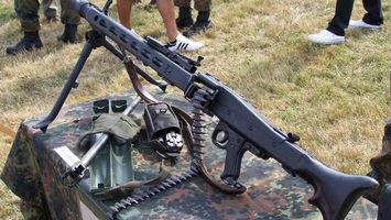 Photo free machine gun, bipod, butt
