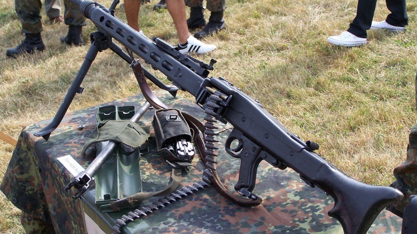 Photos for free machine gun, bipod, butt - to the desktop
