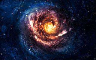 Фото бесплатно спиральная галактика, вселенная, звёзды