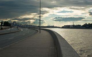 Бесплатные фото петербург, питер, вечер, набережная, автомагистраль, река, город