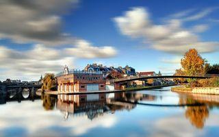 Бесплатные фото город,на берегу,причал