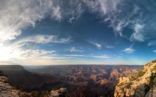 Заставки горы, горизонт, небо, облака, природа, красота, пейзажи