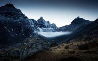 Бесплатные фото горы,скалы,камни,небо,высота,туман,природа