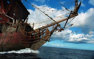 Заставки корабль, пират, море