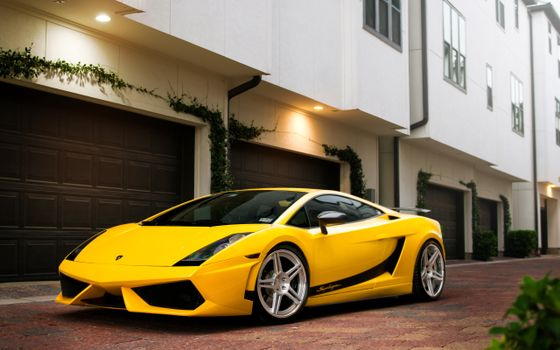 Фото бесплатно ламборджини галлардо, спорткар, аэродинамика