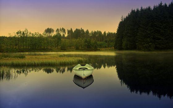 Фото бесплатно лодочка, белая, река