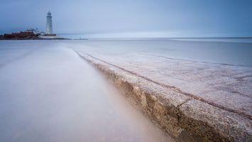 Фото бесплатно море, остров, маяк