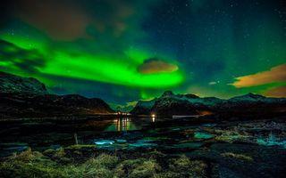 Бесплатные фото норвегия,лофонеские острова,зима,разное