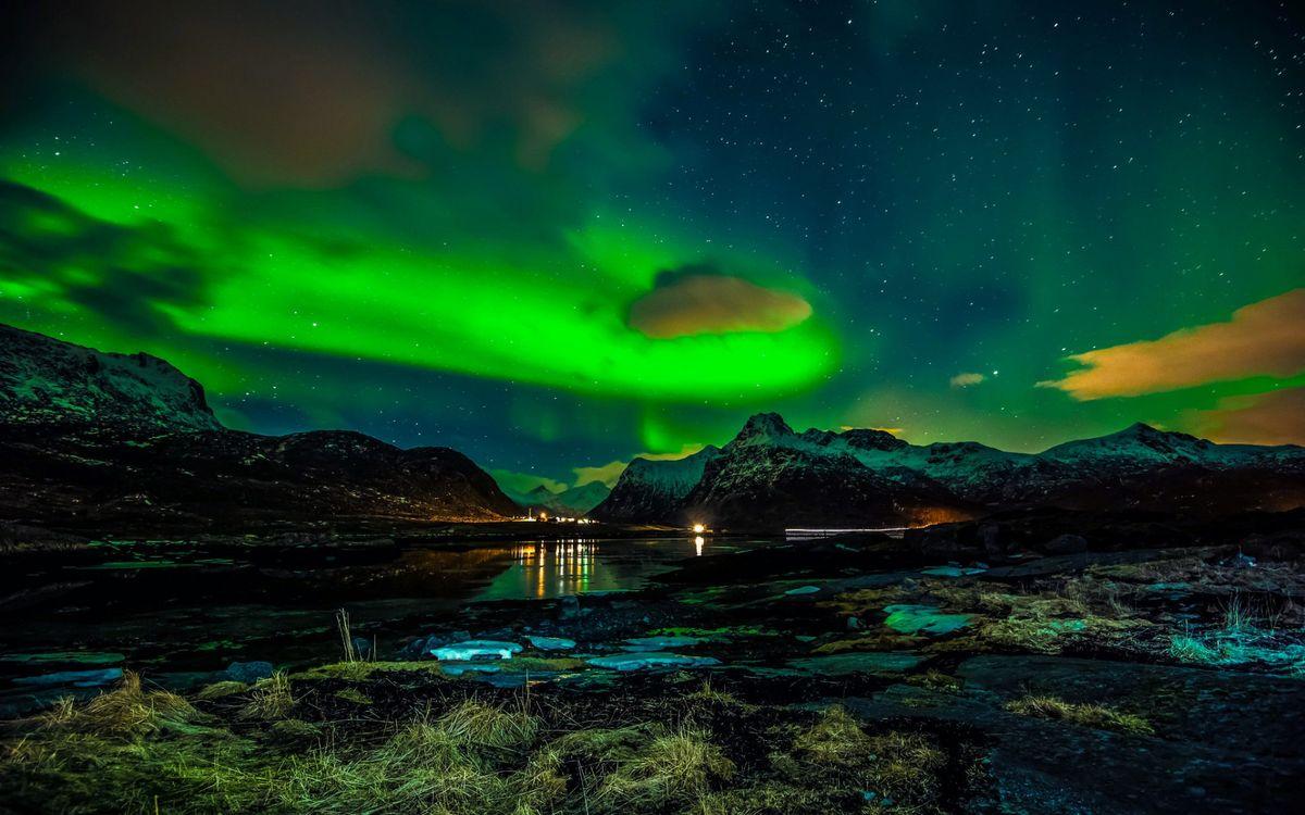 Картинка норвегия, лофонеские острова, зима, разное на рабочий стол. Скачать фото обои разное
