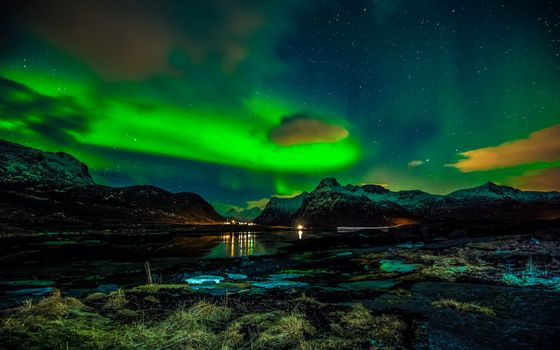 Заставки норвегия, лофонеские острова, зима