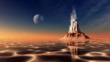 Фото бесплатно пейзаж, фантастика, пустыня